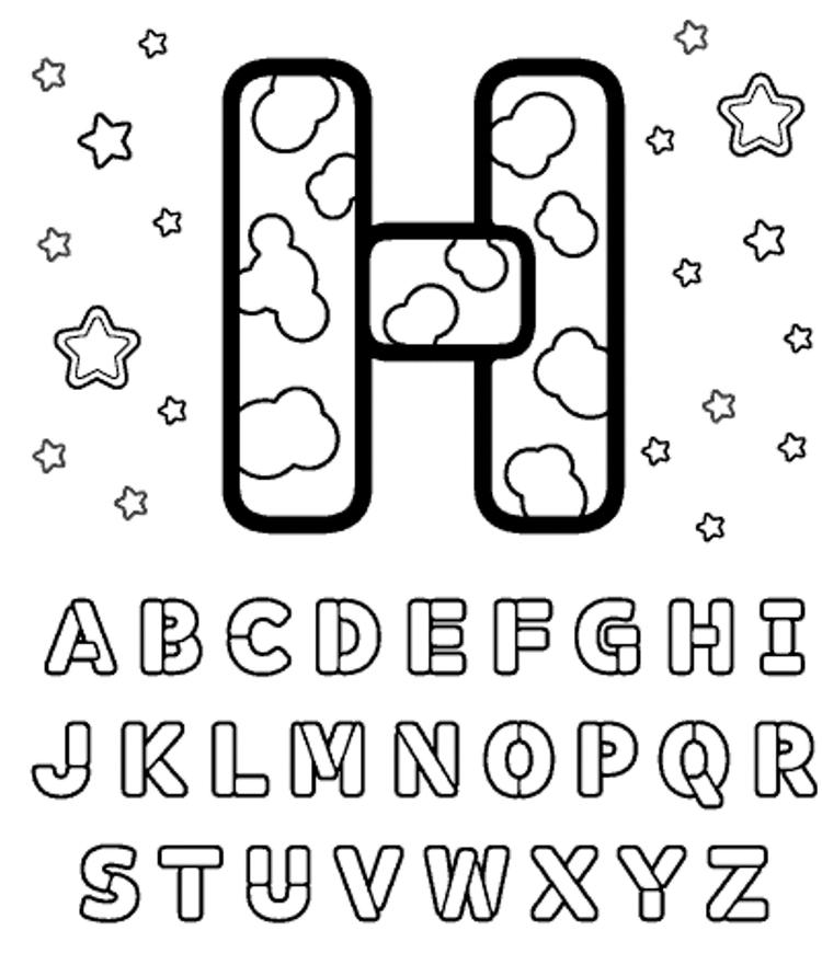 Letter Coloring Pages All Letters