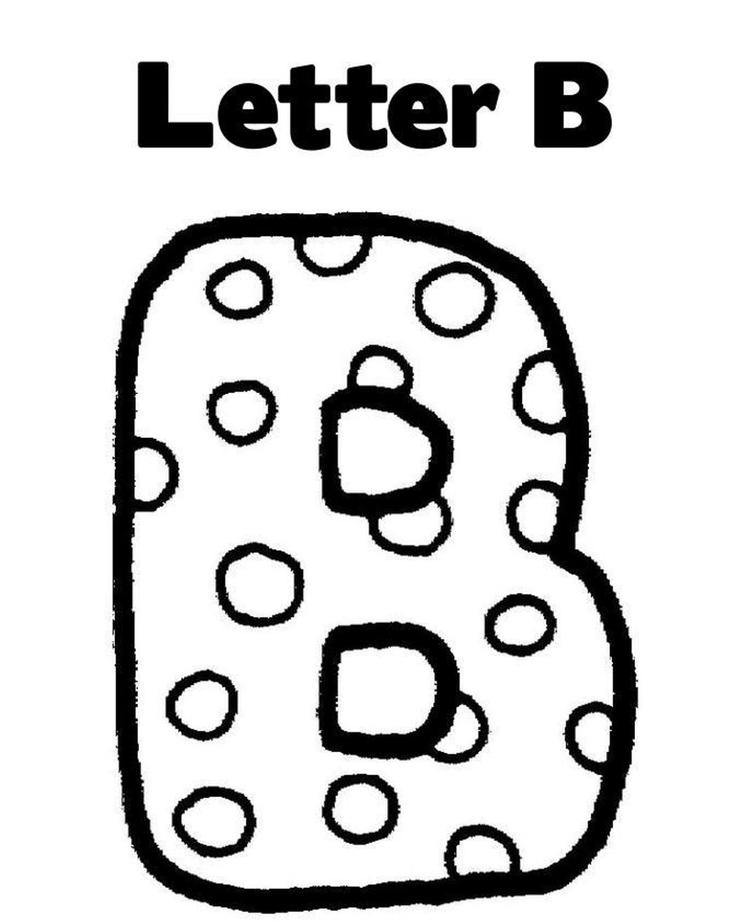 Letter coloring pages for preschool