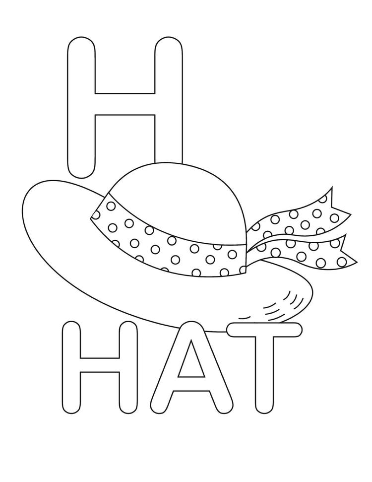Letter Coloring Pages H For Hat