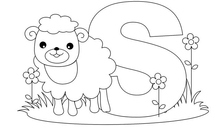 Letter Coloring Pages S For Sheep