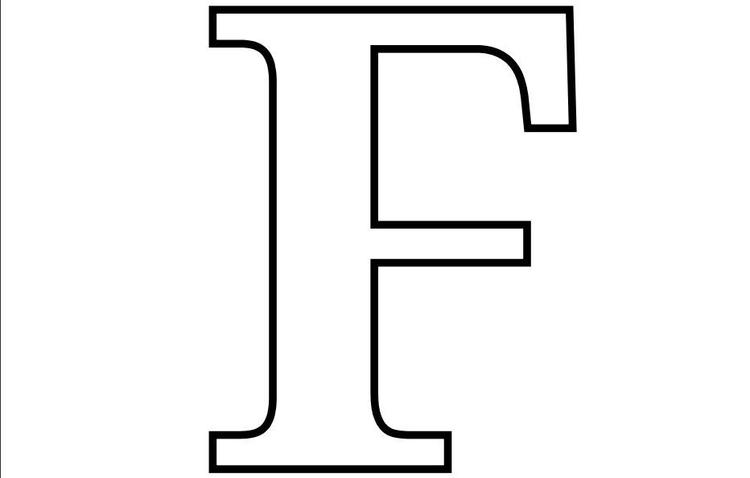 Letter F Free Alphabet Coloring Pages