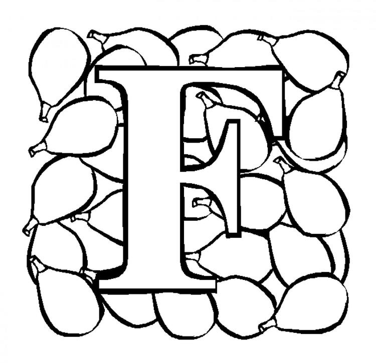 Letter F Fruit Alphabet Coloring Pages Free1
