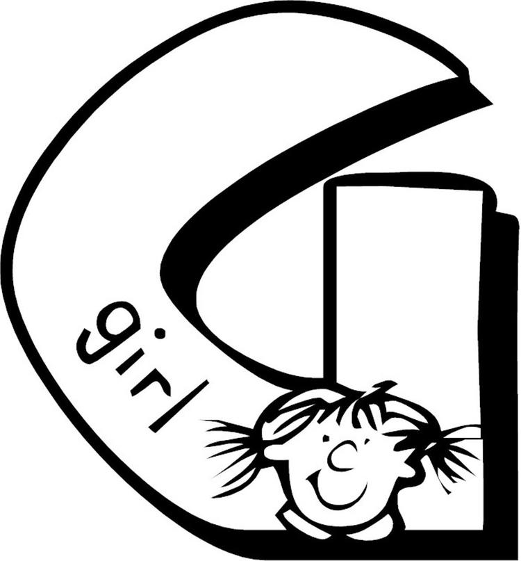 Letter G Coloring Pages Alphabet For Girl