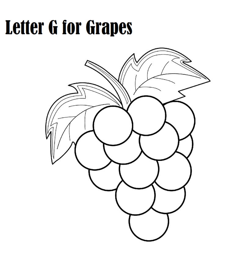 Letter G For Grape Coloring Page