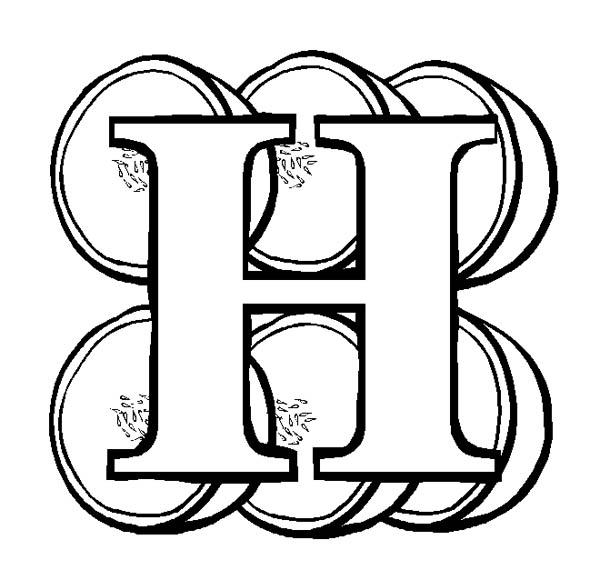 Letter H For Honeydews Coloring Page