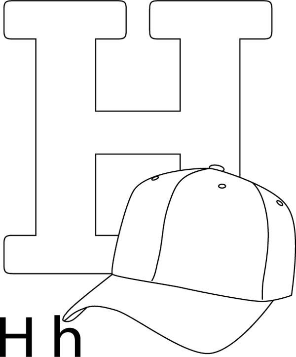 Letter H Is For Hat Coloring Page