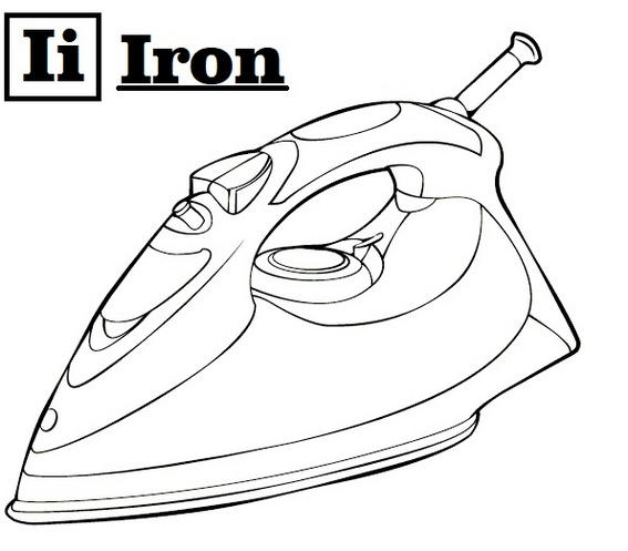 Letter I For Iron Coloring Page