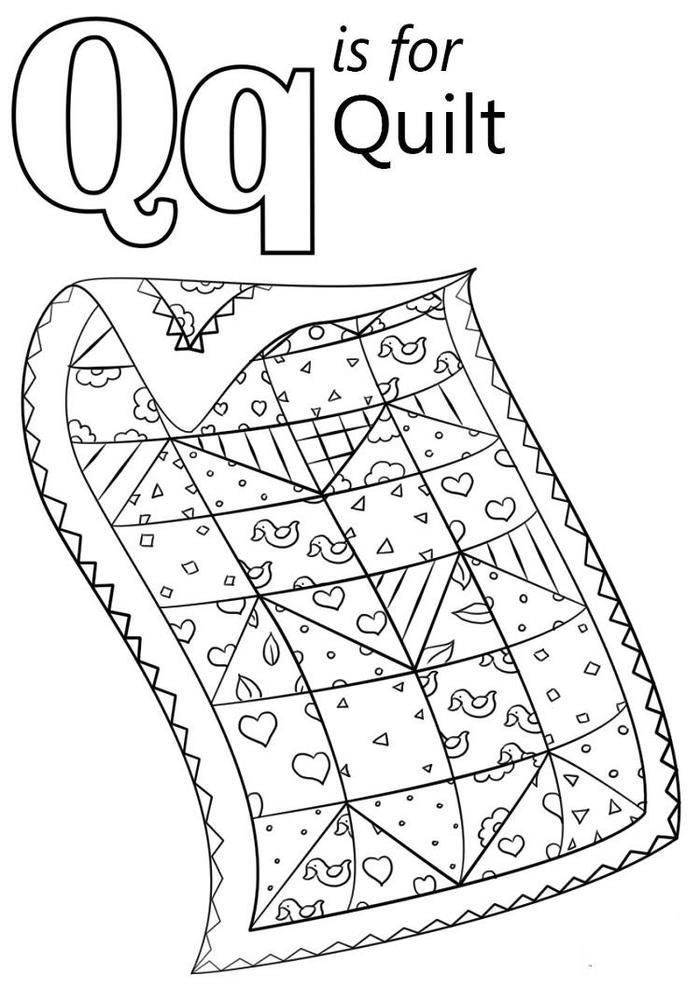 Letter Q Is For Quilt Coloring Pages