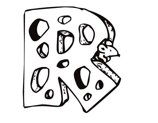 Letter R Is For Rat Coloring Page