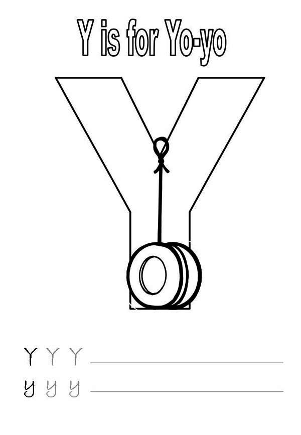Letter Y Is For Yo Yo Worksheet Coloring Page