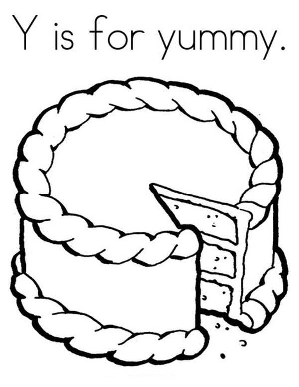 Letter Y Is For Yummy Coloring Page