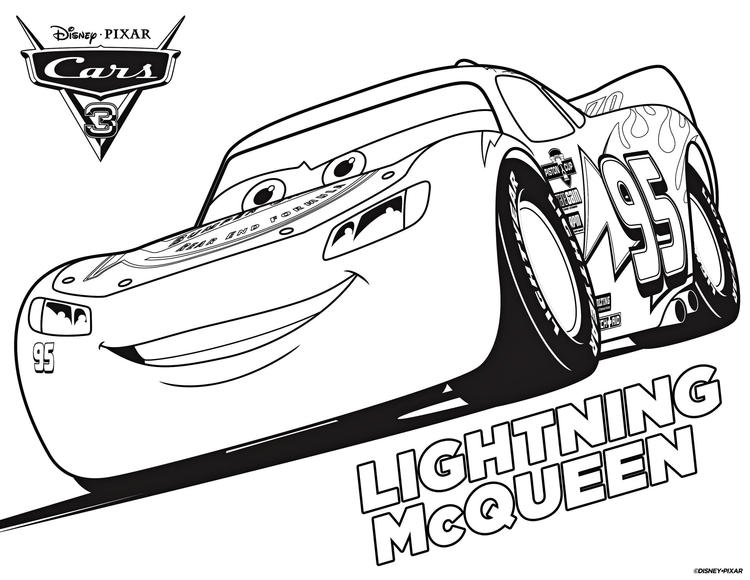 Lightning Mcqueen Coloring Page Printable