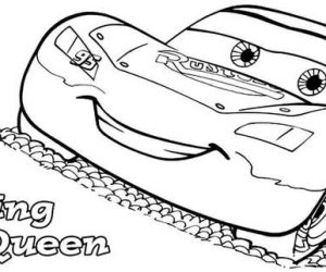 Lightning mcqueen coloring pages printable
