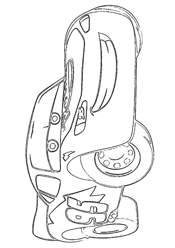 Lightning Mcqueen Coloring Pages Smiling