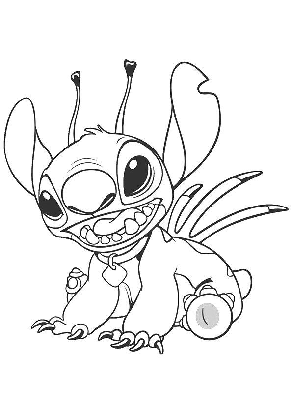 Lilo And Stitch Coloring Pages For Kids Printable