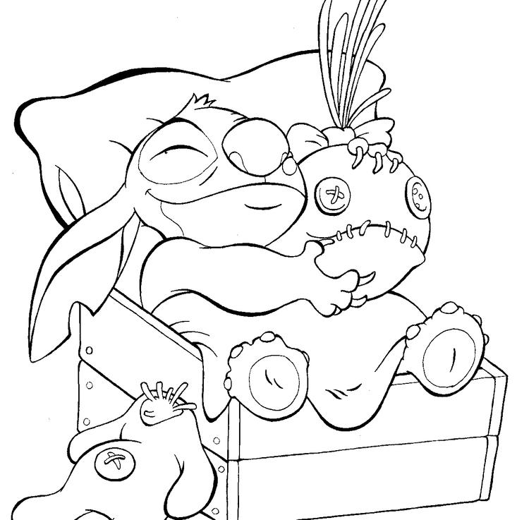 Lilo And Stitch Coloring Pages Stitch And Doll