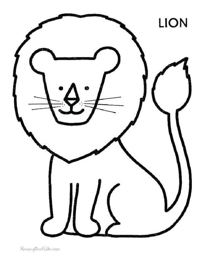 Lion Coloring Pages For Toddlers