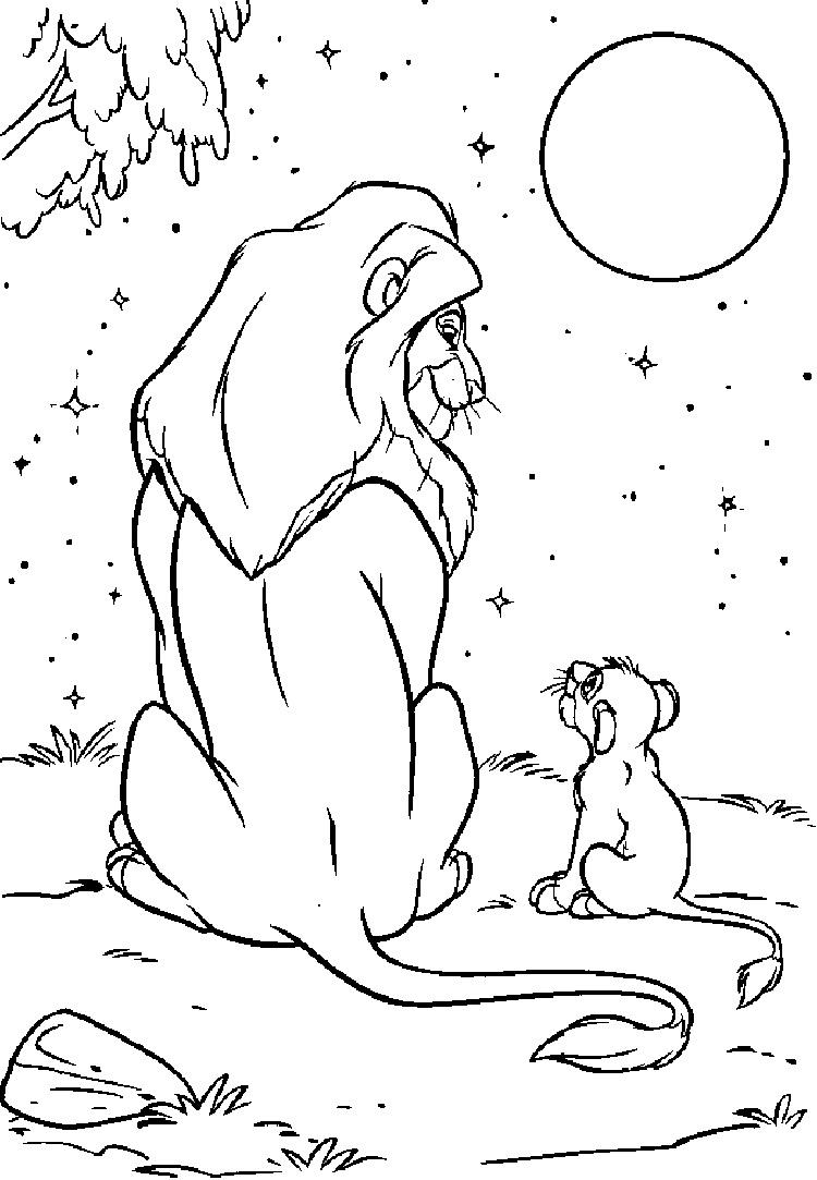 Lion King Broadway Coloring Pages