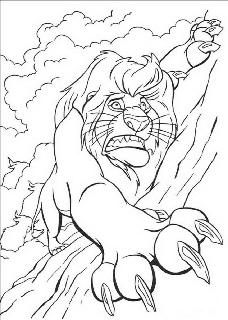 Lion King Characters Coloring Pages