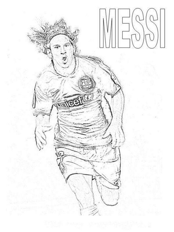 Lionel Messi After Scoring Goals Coloring Pages