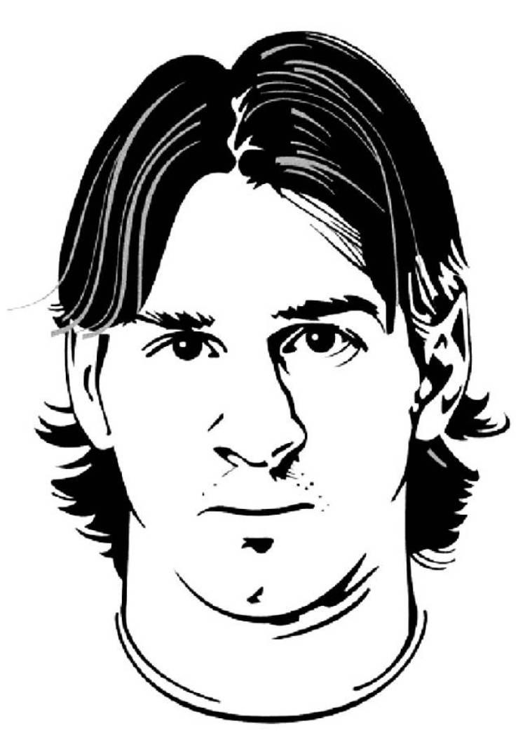 Lionel Messi Soccer Coloring Pages