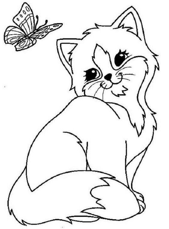Lisa Frank Cat Coloring Sheet
