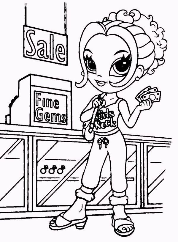 Lisa Frank Does Shopping Coloring Pages