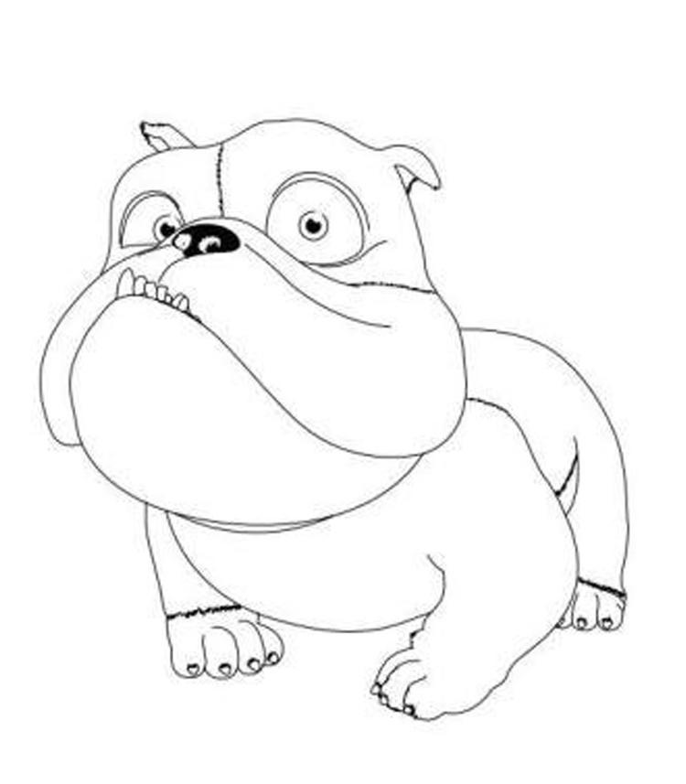 Little Bulldog Coloring Pages For Kids