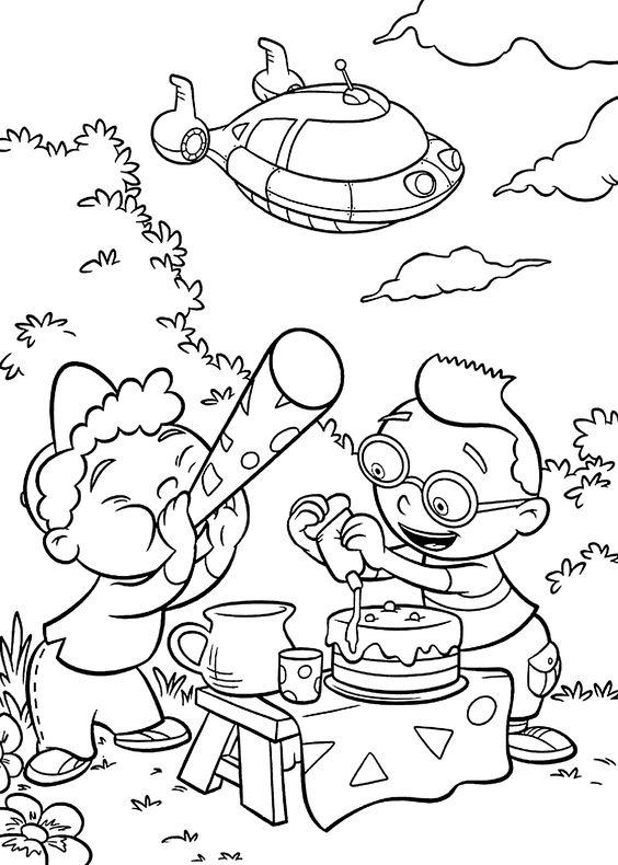 Little Einsteins Coloring Pages Birthday