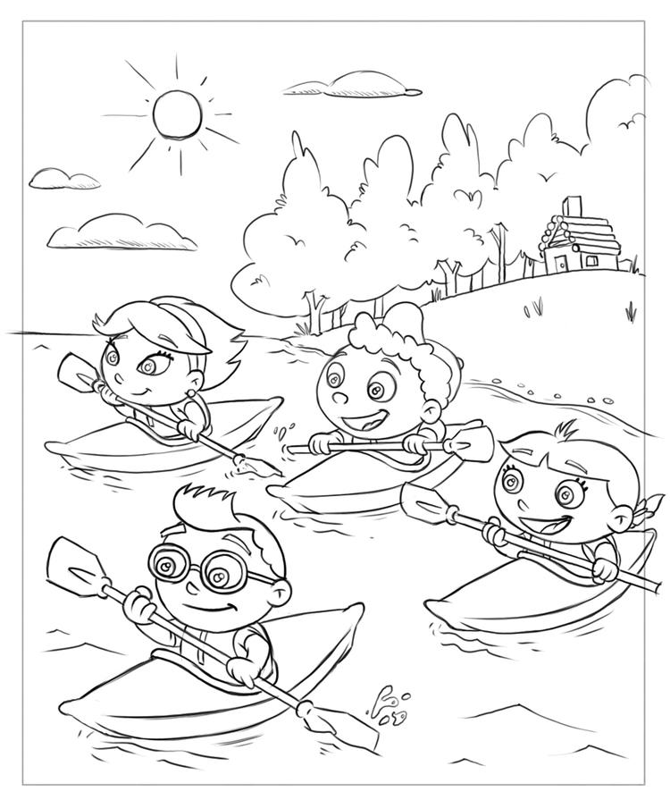 Little Einsteins Coloring Pages Canoeing