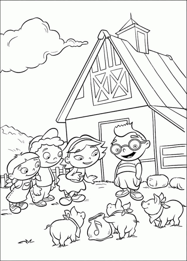 Little Einsteins Coloring Pages In Farm - Coloring Ideas