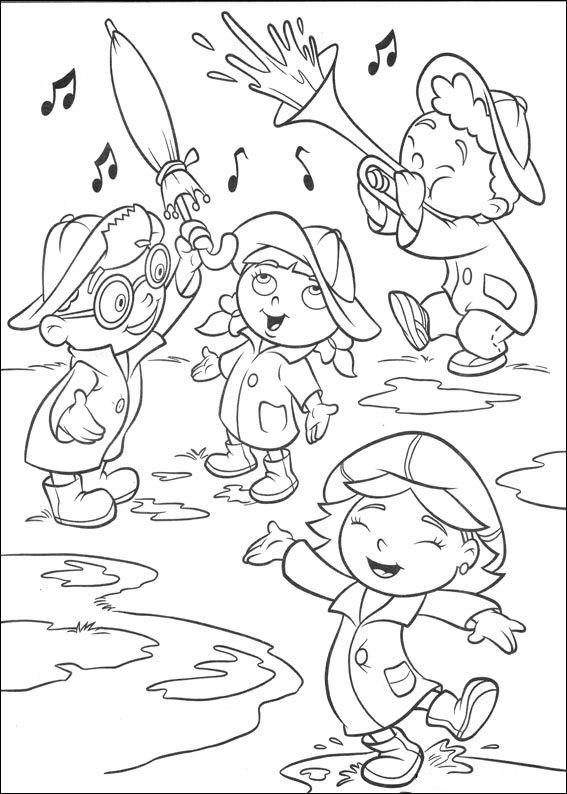 Little Einsteins Coloring Pages Playing In Rain