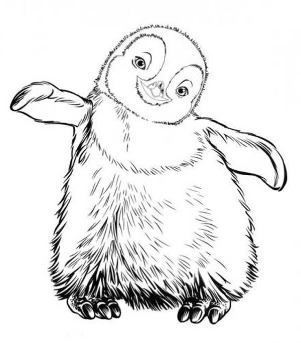 Little Erik From Happy Feet Coloring Pages