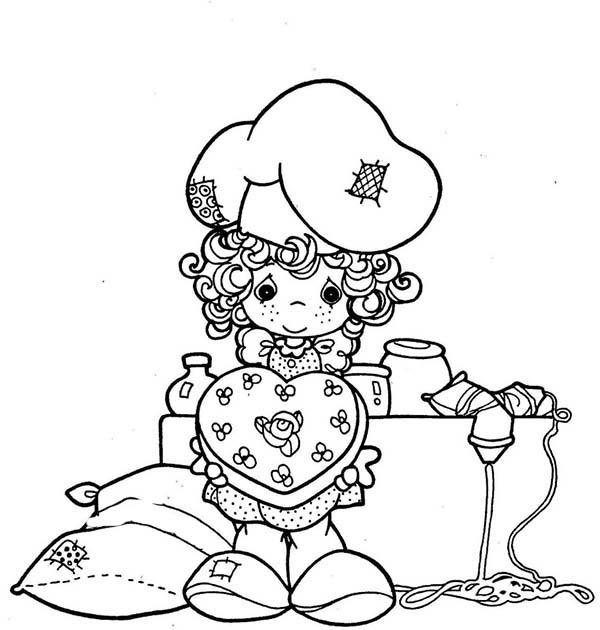 Little Girl Show Her Lovely Cake In Bakery Coloring Pages