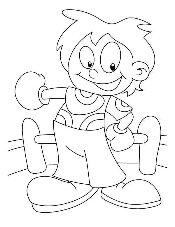 Little Judo Kid Coloring Pages