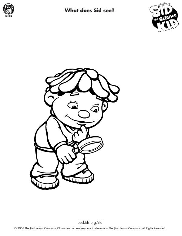 Little Kids Sid The Science Coloring Pages