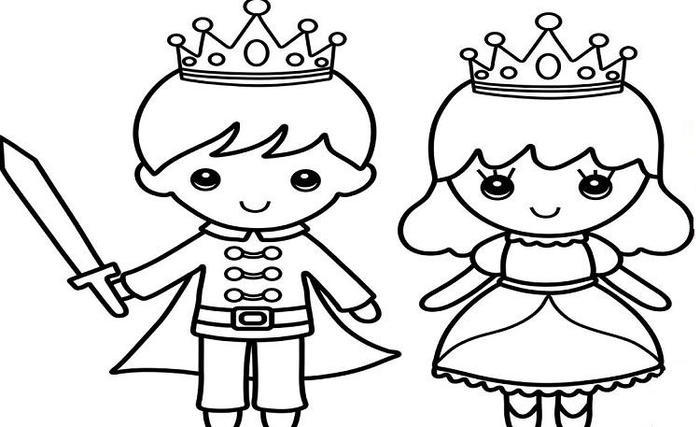 Little King And Queen Coloring Pages