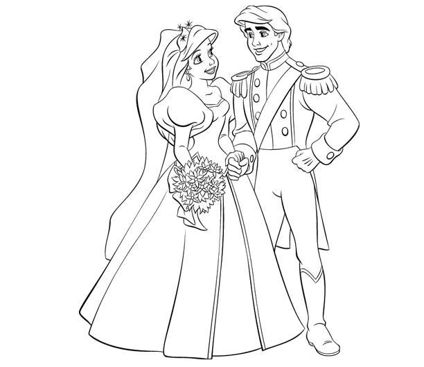 Little Mermaid Coloring Pages Prince Eric