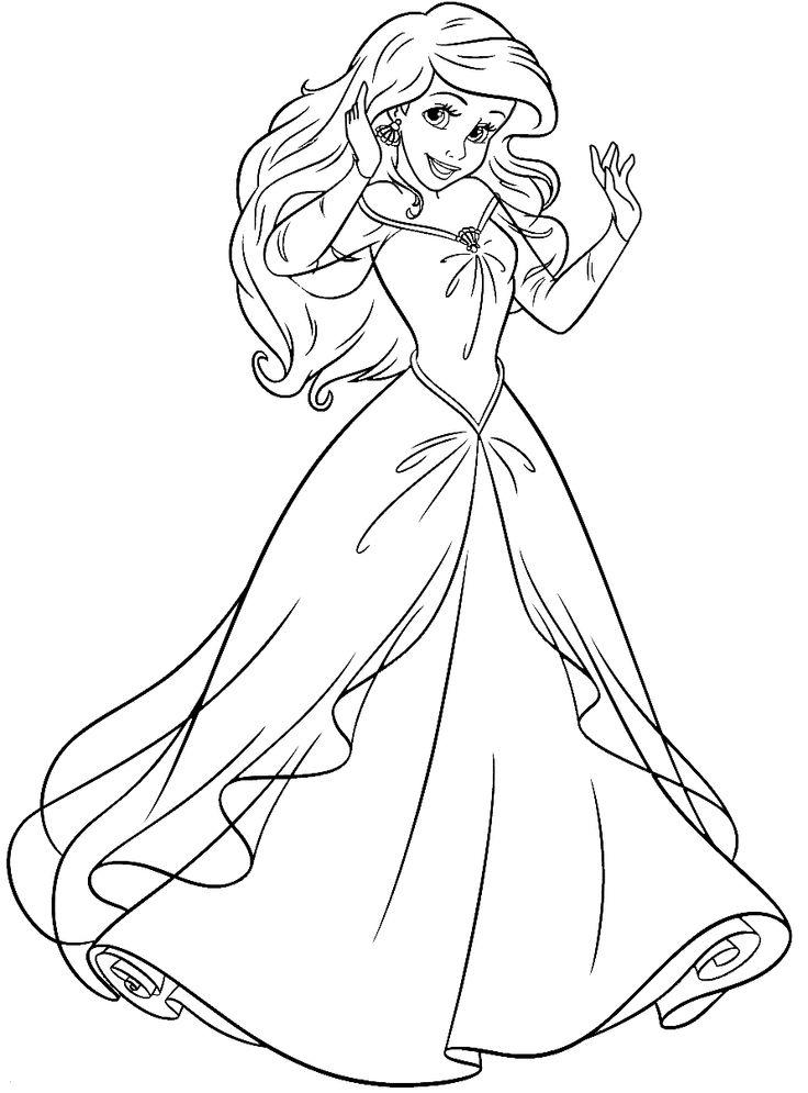 Little Mermaid Coloring Pages Princess Ariel