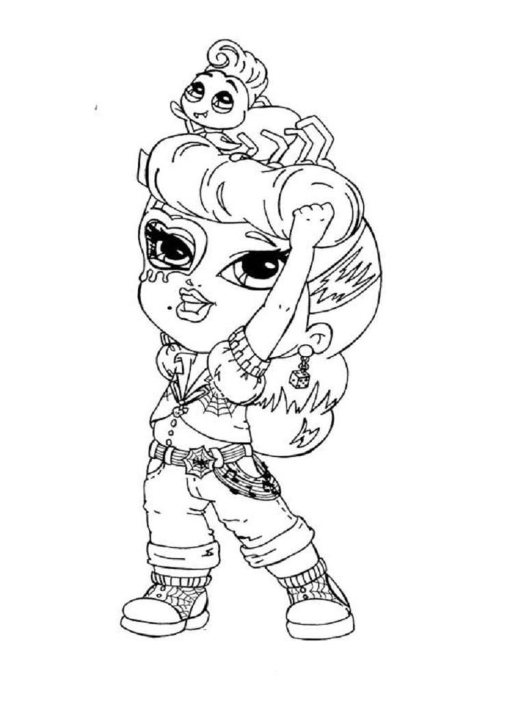 Little Monster High Coloring Pages
