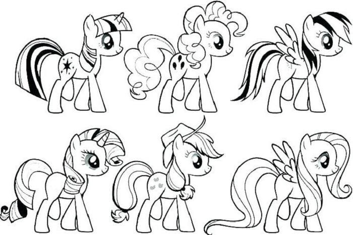 Little Pony Coloring Pages To Print