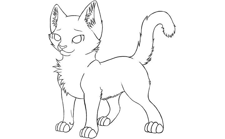 Little Warrior Cat Coloring Pages