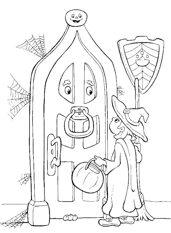 Little Witch Halloween Coloring Pages