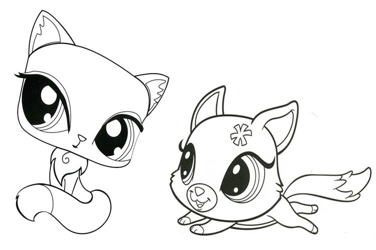 Littlest Pet Shop Coloring Pages Kitten And Puppy