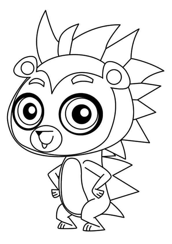 Littlest Pet Shop Coloring Pages Russell