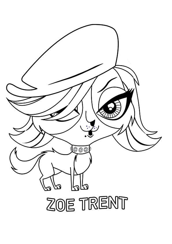 Littlest Pet Shop Coloring Pages Zoe