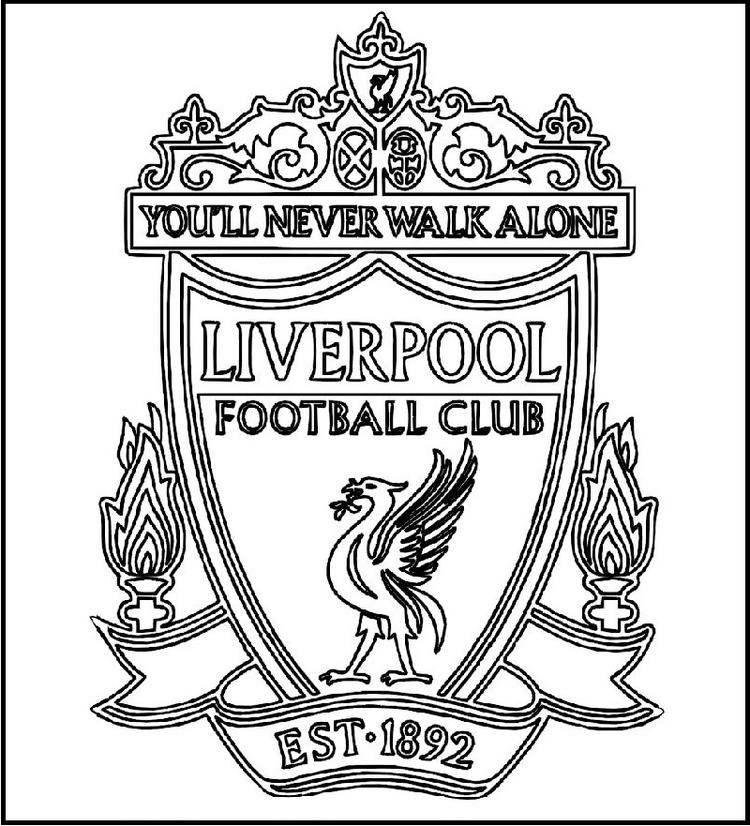 Liverpool Football Club Logo Coloring Printable Picture For Soccer Fans