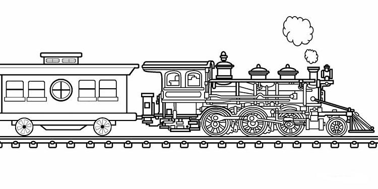 Locomotive Train Coloring Pages
