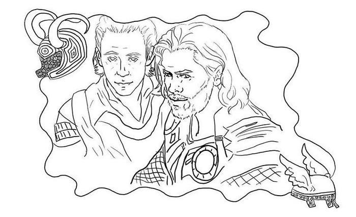 Loki And Thor Coloring Pages