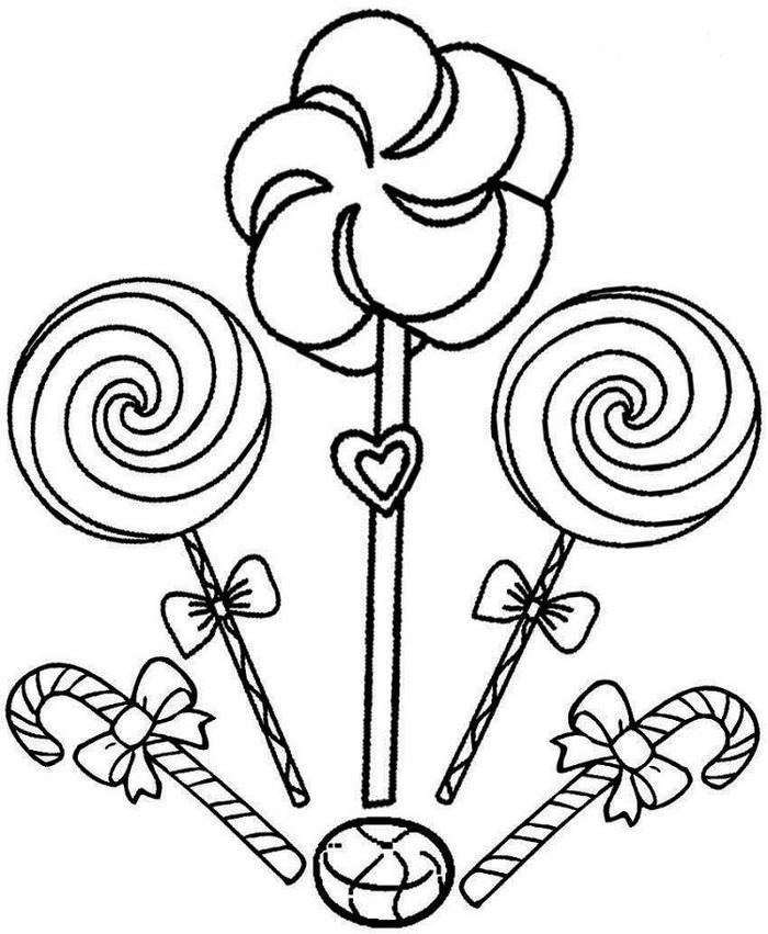 Lollipops Candy Coloring Pages